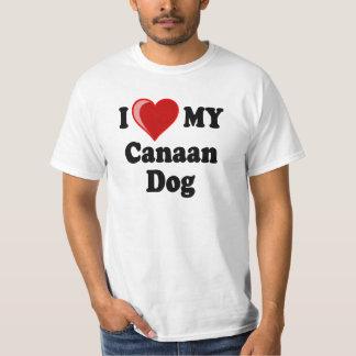 Amo (corazón) mi perro de Canaan Polera