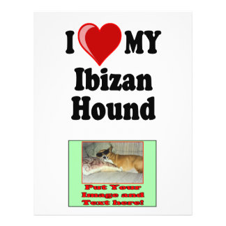 Amo (corazón) mi perro de caza de Ibizan Tarjeta Publicitaria