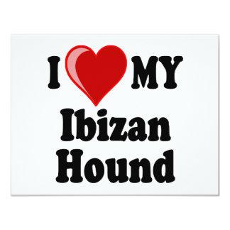 Amo (corazón) mi perro de caza de Ibizan Comunicados