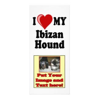 Amo (corazón) mi perro de caza de Ibizan Tarjetas Publicitarias
