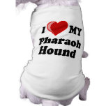 Amo (corazón) mi perro de caza del Pharaoh Camisetas Mascota