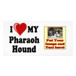Amo (corazón) mi perro de caza del Pharaoh Tarjeta Personal Con Foto