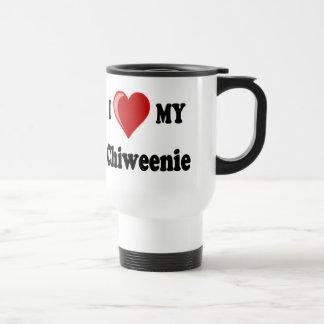 Amo corazón mi perro de Chiweenie Taza De Café