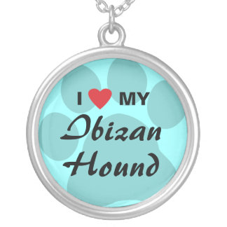 Amo (corazón) mi perro de Ibizan Colgante Redondo