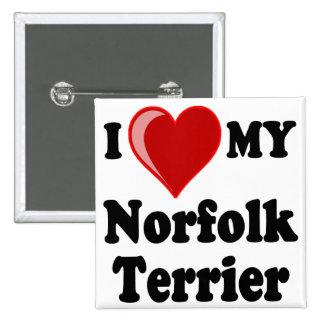 Amo (corazón) mi perro de Norfolk Terrier Pins
