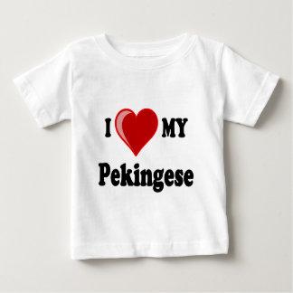 Amo (corazón) mi perro de Pekingese Playera