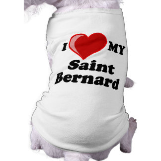 Amo (corazón) mi perro de St Bernard Camisetas Mascota
