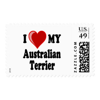 Amo (corazón) mi perro de Terrier australiano Sello