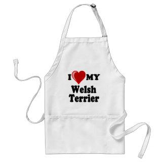 Amo (corazón) mi perro de Terrier galés Delantal