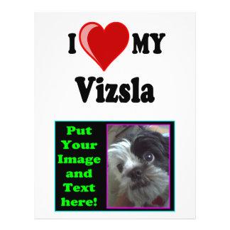 """Amo (corazón) mi perro de Vizsla Folleto 8.5"""" X 11"""""""