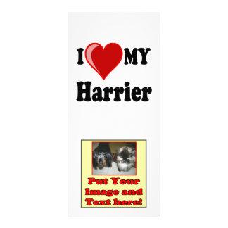 Amo (corazón) mi perro del corredor de cross tarjeta publicitaria personalizada