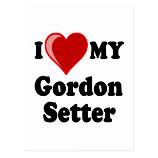 Amo (corazón) mi perro del organismo de Gordon Tarjetas Postales