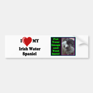 Amo (corazón) mi perro del perro de aguas de agua  pegatina para auto