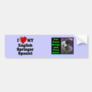 Amo corazón mi perro del perro de aguas de salta etiqueta de parachoque