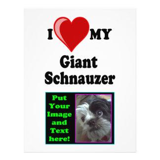 """Amo (corazón) mi perro del Schnauzer gigante Folleto 8.5"""" X 11"""""""