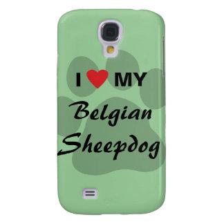 Amo (corazón) mi perro pastor belga funda para galaxy s4