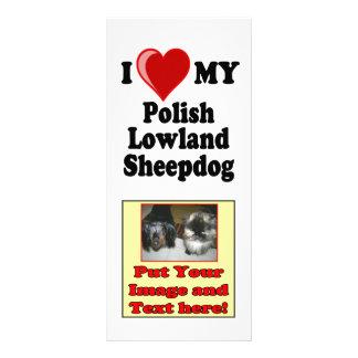Amo (corazón) mi perro pastor polaco de la tierra  lonas personalizadas