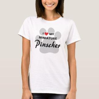 Amo (corazón) mi Pinscher miniatura Playera