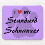 Amo (corazón) mi Schnauzer estándar Alfombrillas De Ratón
