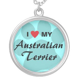 Amo (corazón) mi Terrier australiano Collar Personalizado