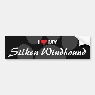 Amo (corazón) mi Windhound de seda Pegatina Para Auto