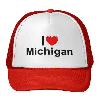 Amo (corazón) Michigan Gorras