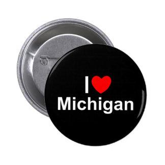 Amo (corazón) Michigan Pin Redondo 5 Cm