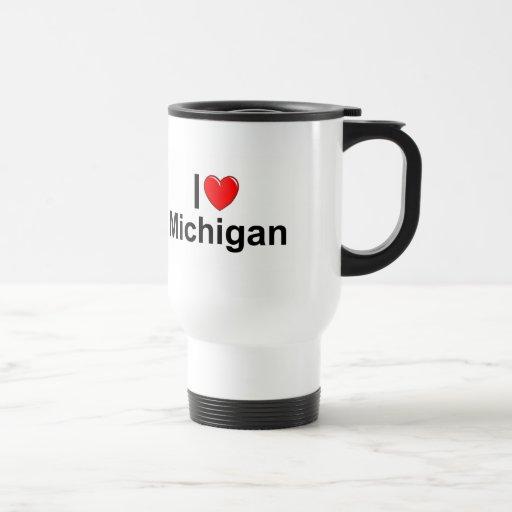 Amo (corazón) Michigan Taza De Viaje
