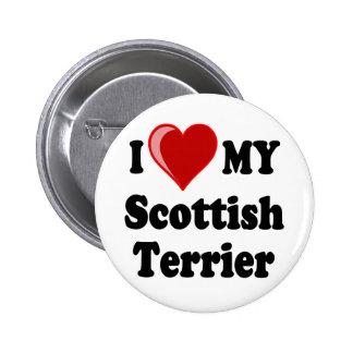 Amo (corazón) mis regalos escoceses del perro de T Pin