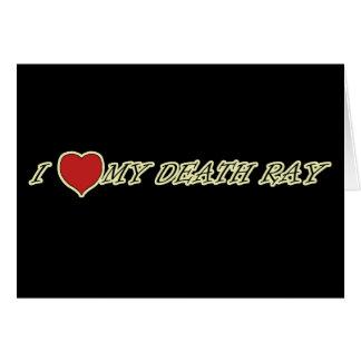 Amo (corazón) mis tarjetas de felicitación del ray