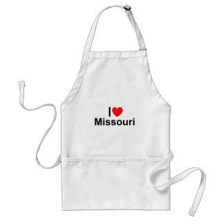 Amo (corazón) Missouri Delantal