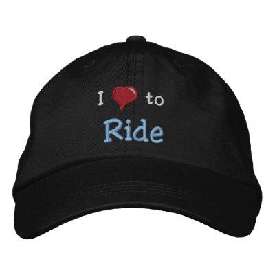 Amo (corazón) montar gorra de beisbol