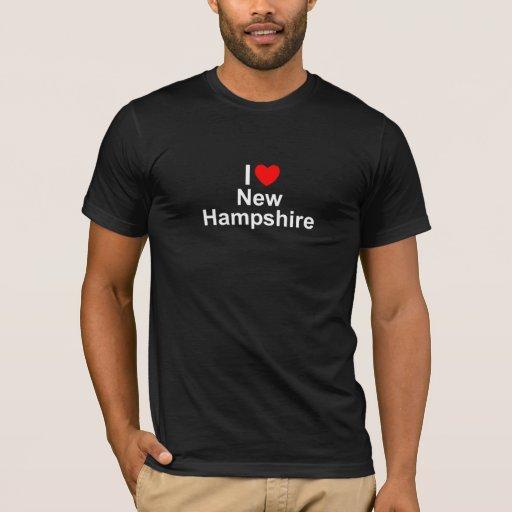 Amo (corazón) New Hampshire Playera