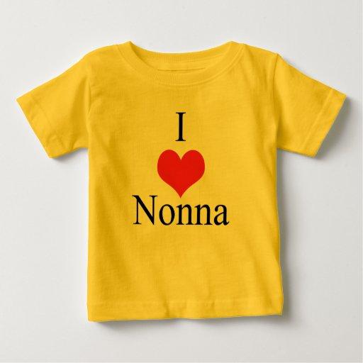 Amo (corazón) Nonna Playera De Bebé