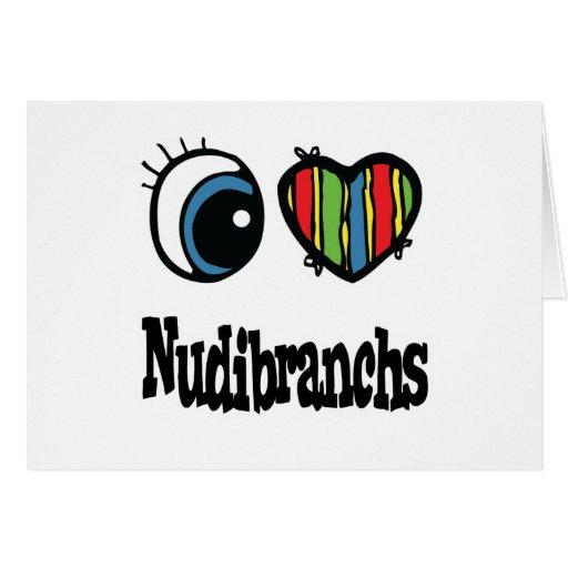 Amo (corazón) Nudibranchs Tarjeton