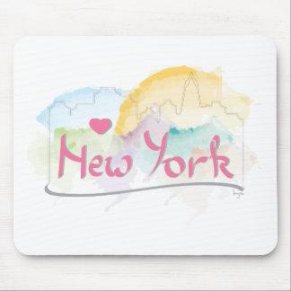 Amo (corazón) Nueva York, Nueva York Mouse Pad