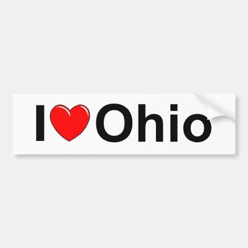 Amo (corazón) Ohio Pegatina Para Auto