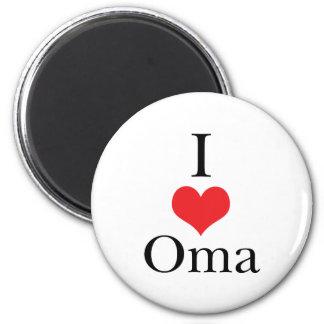 Amo (corazón) Oma Imán Redondo 5 Cm