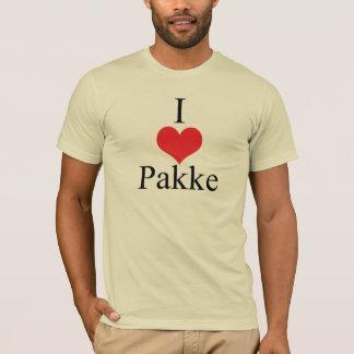 Amo (corazón) Pakke Playera