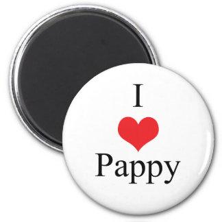 Amo (corazón) Pappy Imán Redondo 5 Cm