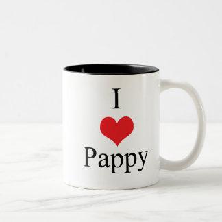 Amo (corazón) Pappy Taza Dos Tonos