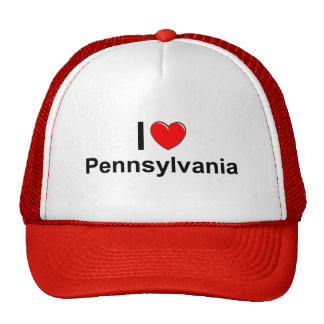 Amo (corazón) Pennsylvania Gorras De Camionero