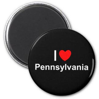 Amo (corazón) Pennsylvania Imán Redondo 5 Cm