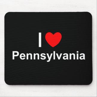 Amo (corazón) Pennsylvania Mouse Pads