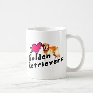 Amo (corazón) perros perdigueros de oro tazas