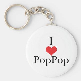 Amo (corazón) PopPop Llaveros Personalizados