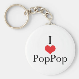 Amo (corazón) PopPop Llavero Redondo Tipo Pin