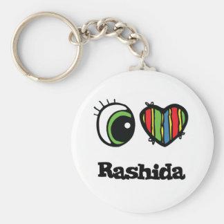 Amo (corazón) Rashida Llavero Redondo Tipo Pin
