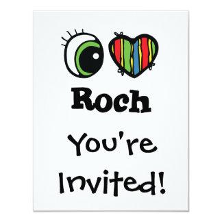 """Amo (corazón) Roch Invitación 4.25"""" X 5.5"""""""