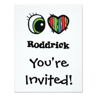 """Amo (corazón) Roddrick Invitación 4.25"""" X 5.5"""""""